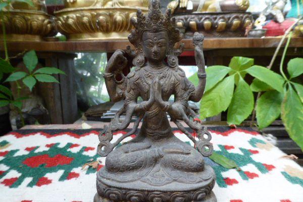 Chenresi - Kultbronze aus Indien