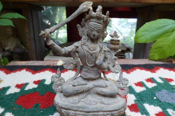 Manjushri - Kultbronze aus Indien
