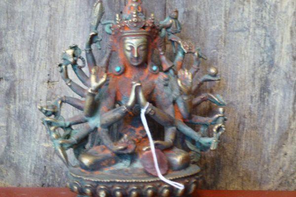 Avalokitesvara - verlorene Form Bronze aus Nepal