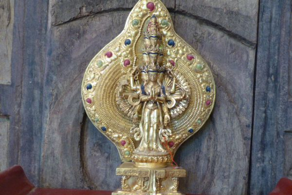 Avalokitsvara - Shakjabronze vergoldet