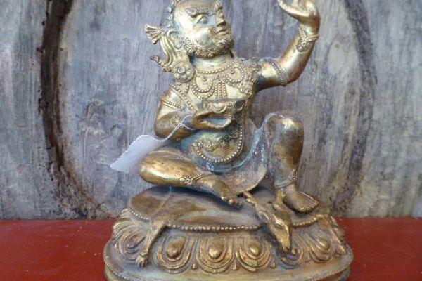Milarepa - Shakjabronze vergoldet aus Nepal