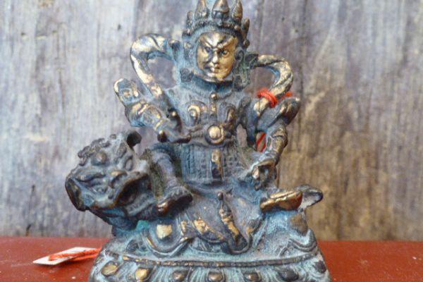 KKubera vergoldet - Kultfigur aus der Mongolei
