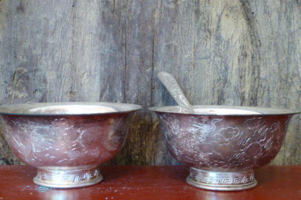 Ritualgefäß - Silber aus Tibet