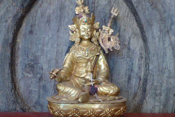Guru Rimpoche - Shakjabronze aus Nepal