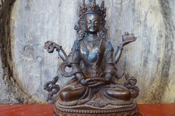 Lokesvara - verlorene Form Bronze aus Nepal