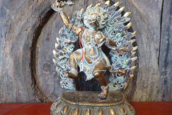 Kjun - Shakjabronze vergoldet aus Nepal