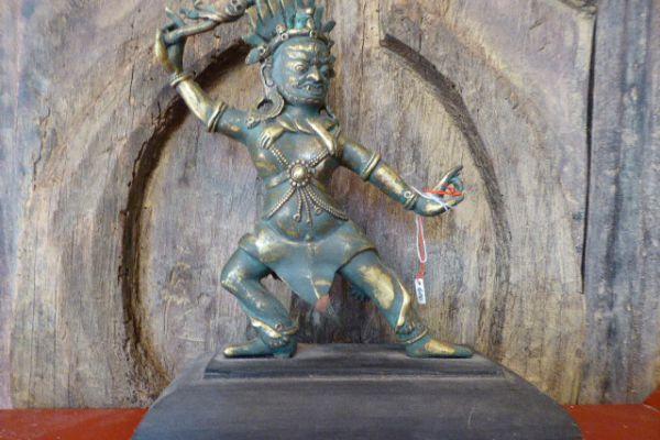 Dharmapala - Shakjabronze aus Nepal