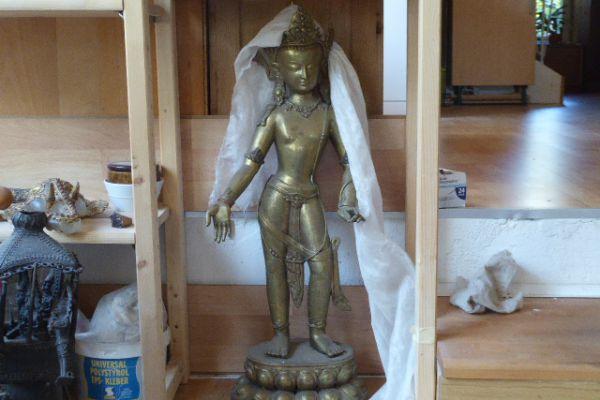 Padmapani - verlorene Form Bronze aus Nepal